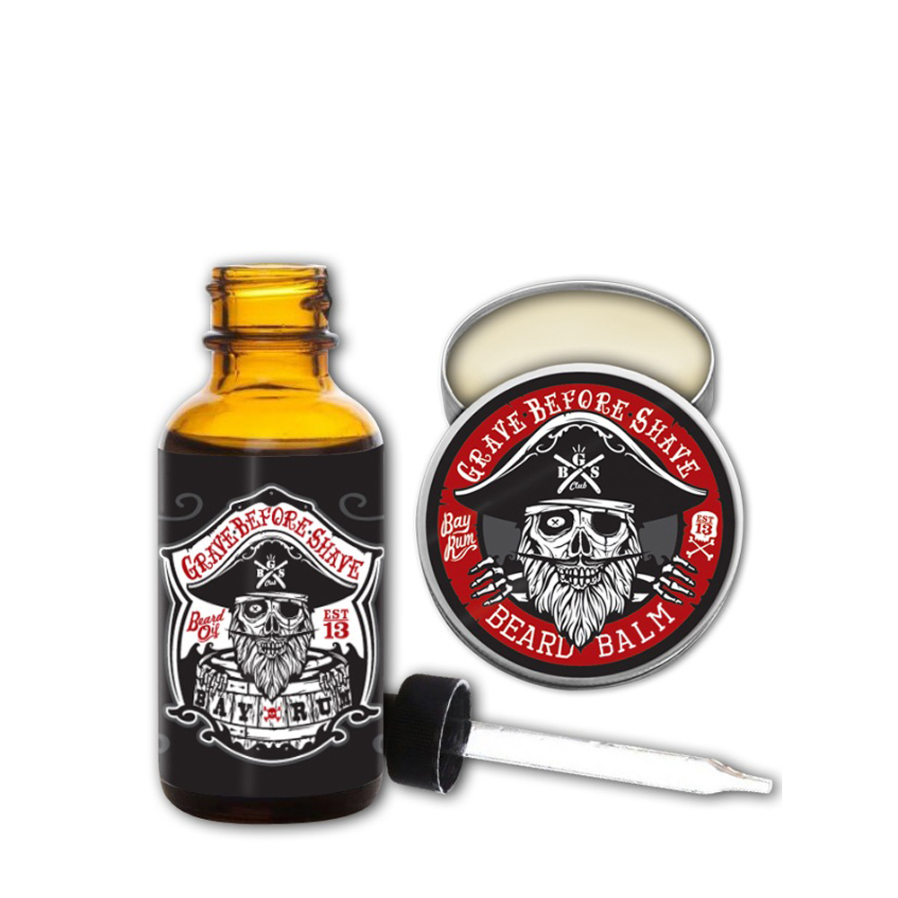 Grave Before Shave Bay Rum pack