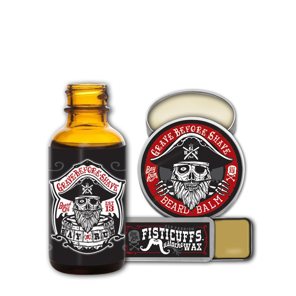 Grave Before Shave Beard'n'Stache Bay Rum pack